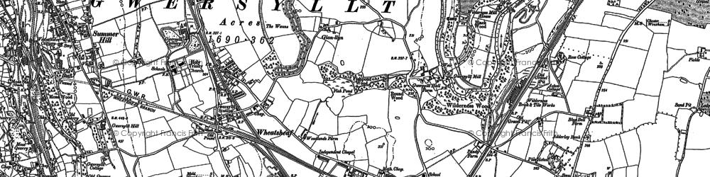 Old map of Gwersyllt in 1898