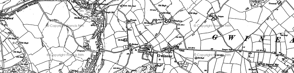 Old map of Rosewarne in 1877