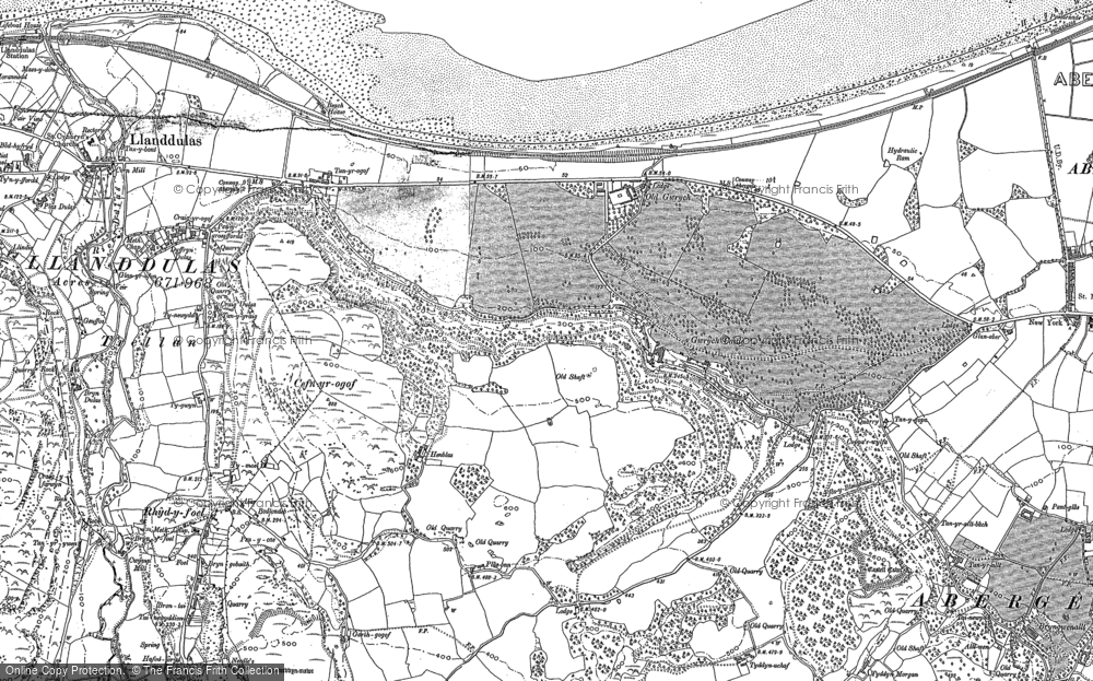 Old Map of Historic Map covering Abergele Roads in 1911