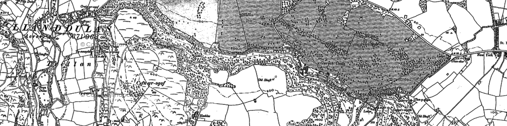 Old map of Abergele Roads in 1911