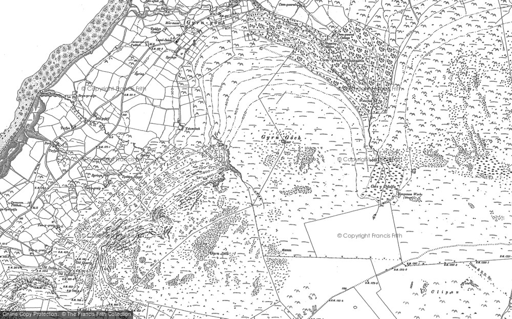 Old Map of Historic Map covering Afon Hen in 1899