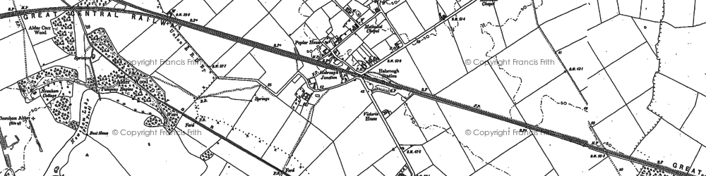 Old map of Habrough in 1905