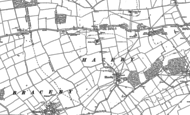 Old Map of Haceby, 1886 - 1887