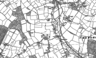 Old Map of Hacheston, 1883