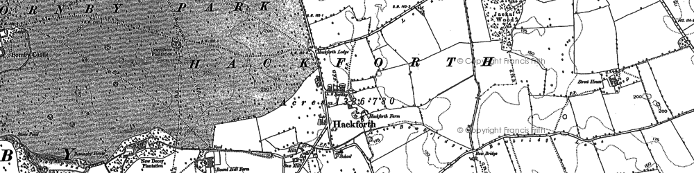 Old map of Ainderby Myres in 1891