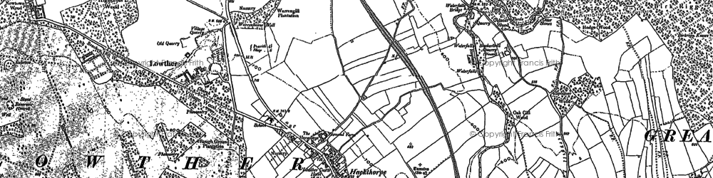 Old map of Abbott Lodge in 1897