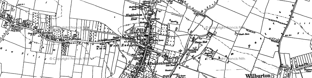 Old map of Linden End Field in 1887