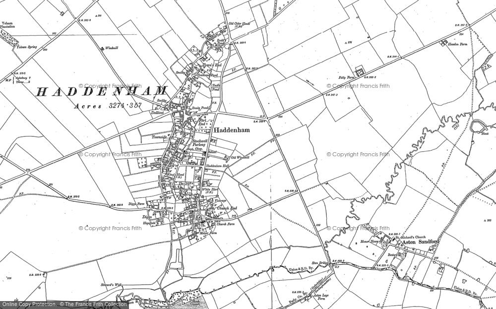 Old Map of Haddenham, 1898 - 1919 in 1898