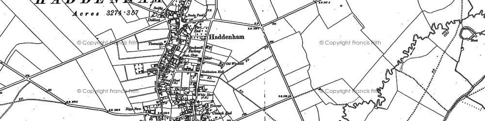 Old map of Haddenham in 1898
