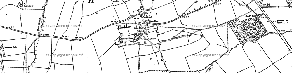 Old map of Toon's Lodge in 1887