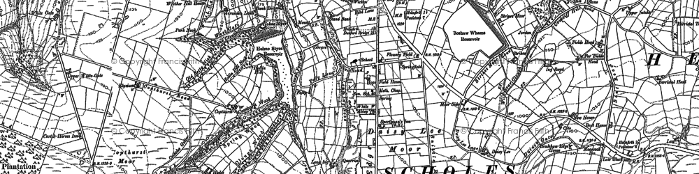 Old map of Arrunden in 1888