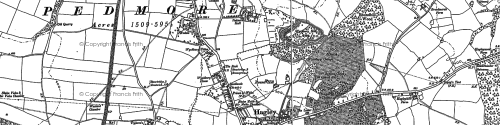 Old map of Wychbury Hill in 1882