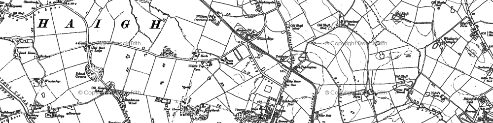 Old map of Adlington Park in 1892