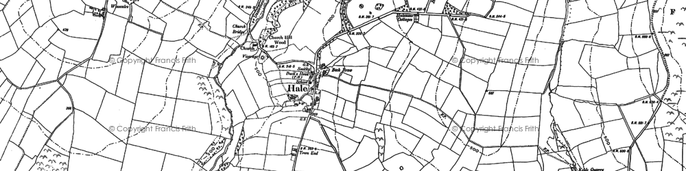 Old map of Whitehow Head in 1898