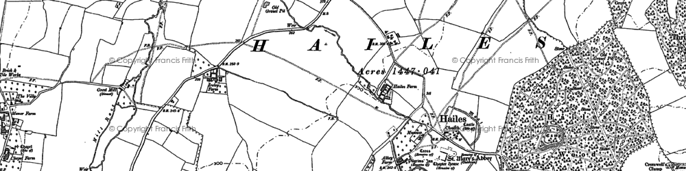 Old map of Hailes in 1883