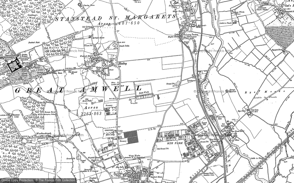 Old Map of Hailey, 1896 - 1938 in 1896