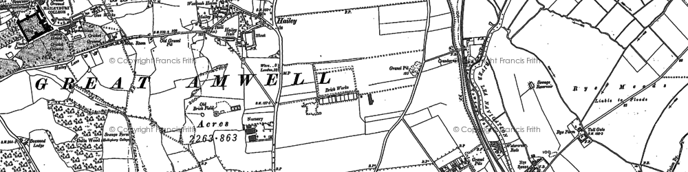 Old map of Woollensbrook in 1896