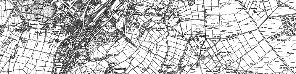 Old map of Back Shaw in 1848