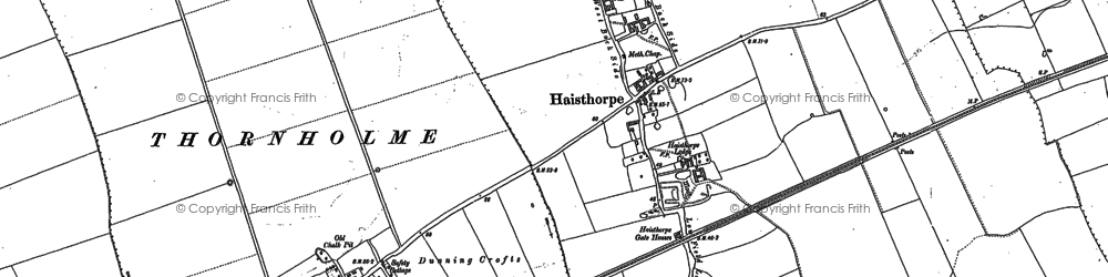 Old map of Wold Gate in 1888