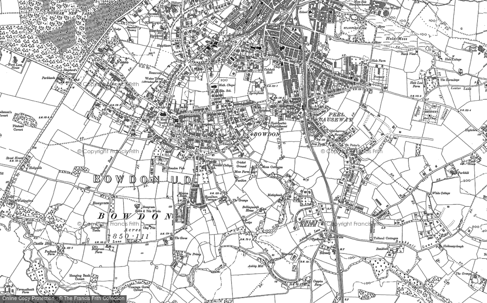 Old Map of Historic Map covering Ashley Heath in 1897