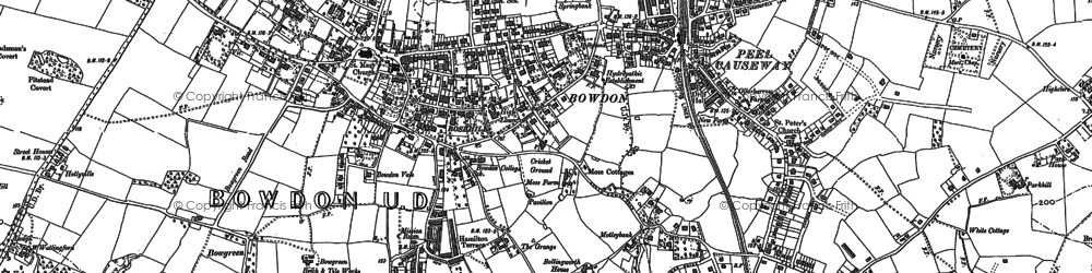 Old map of Ashley Heath in 1897