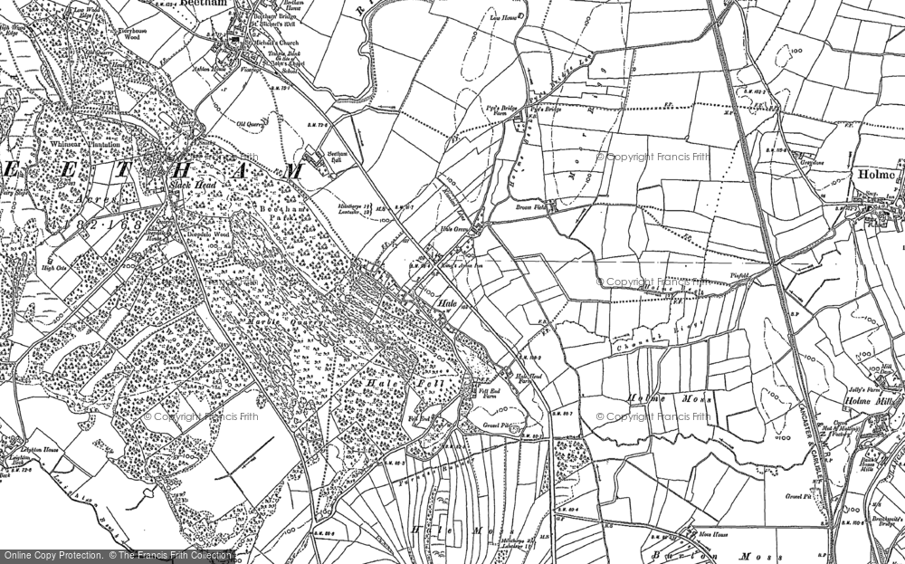 Old Map of Historic Map covering Leighton Beck in 1911