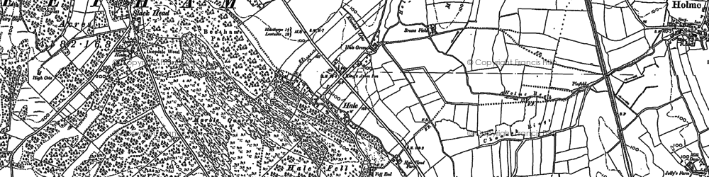 Old map of Leighton Beck in 1911