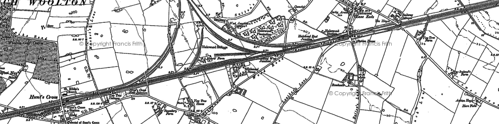 Old map of Halewood in 1894