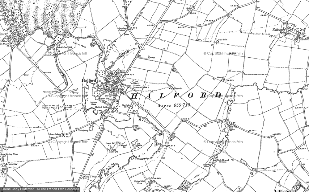 Old Map of Halford, 1885 - 1904 in 1885