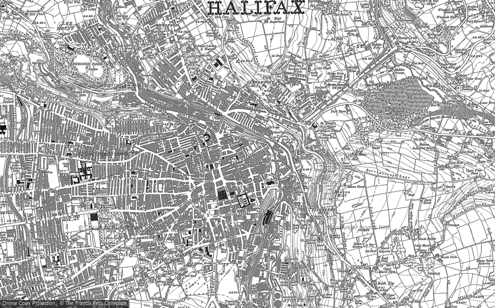 Map Of England Halifax.Old Maps Of Halifax Francis Frith