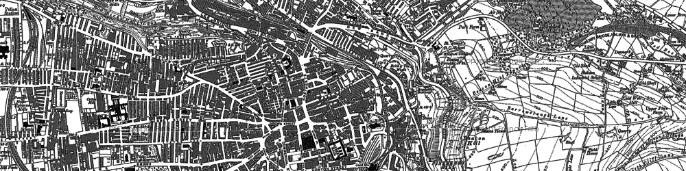 Old map of Halifax in 1892