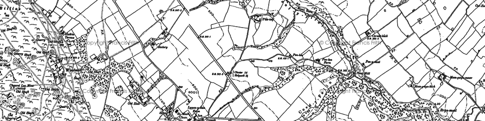 Old map of Halkyn in 1898