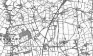 Old Map of Hall End, 1881