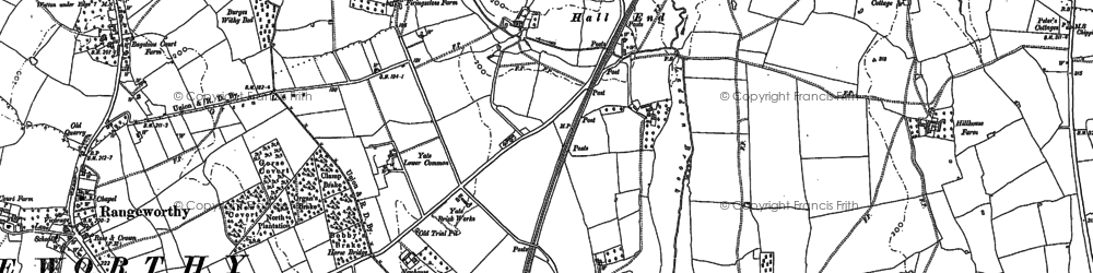 Old map of Yate Lower Common in 1881