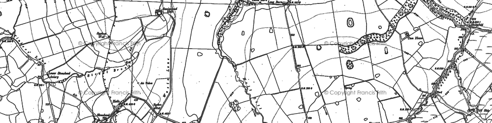 Old map of Yates in 1910