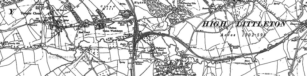 Old map of White Cross in 1883