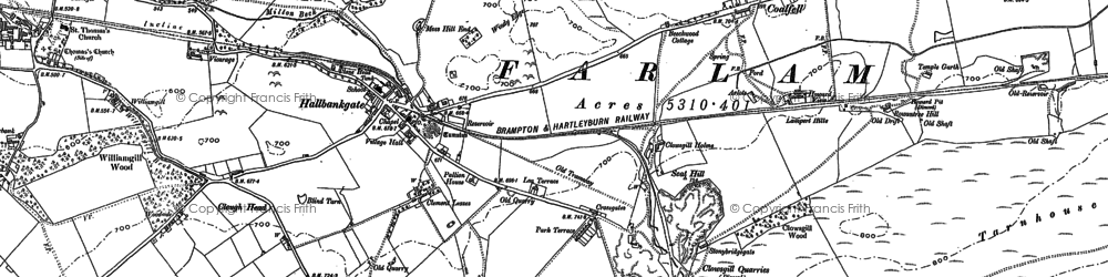 Old map of Williamgill in 1899