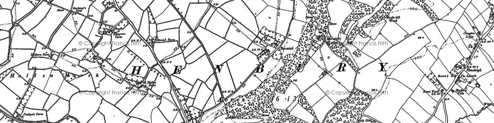 Old map of Berwick in 1901