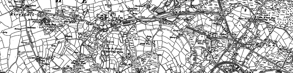Old map of Hallew in 1881