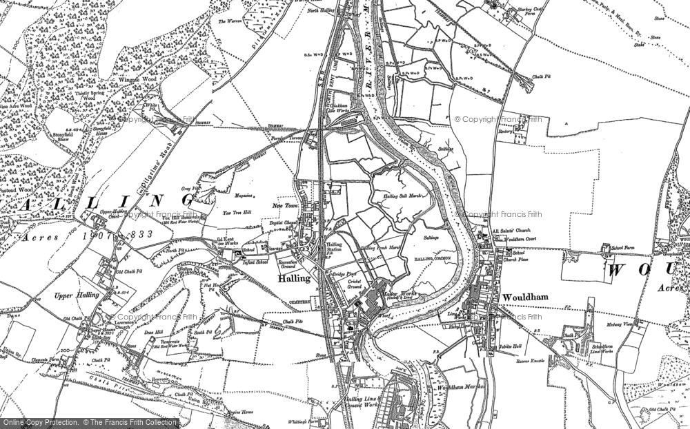 Map of Halling, 1895 - 1896