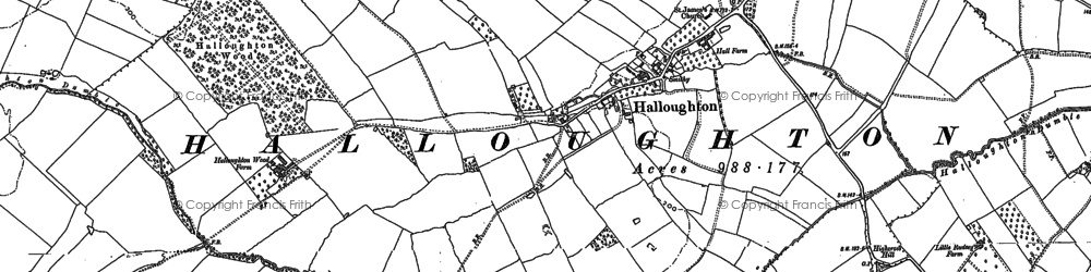 Old map of Westhorpe Dumble in 1883