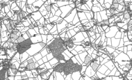 Old Map of Hallwood Green, 1883 - 1901