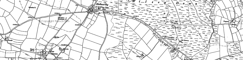 Old map of Hallworthy in 1882