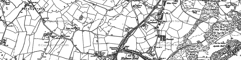 Old map of Wynbrook in 1898