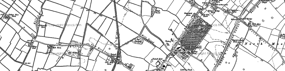 Old map of Halsall in 1892