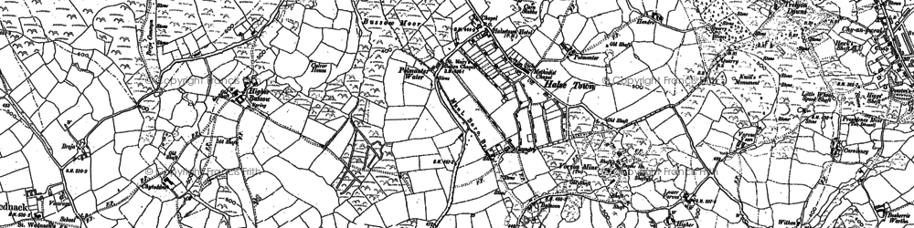 Old map of Balnoon in 1877
