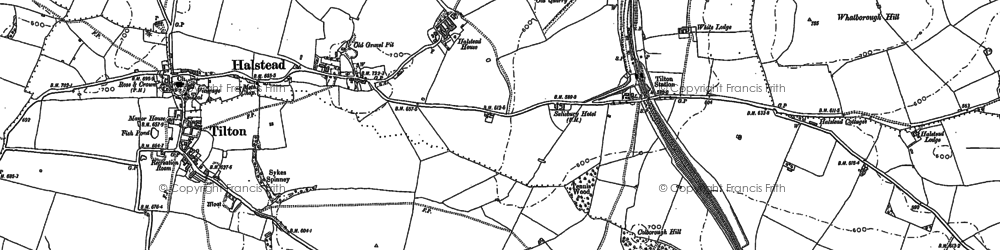 Old map of Whatborough Hill in 1902
