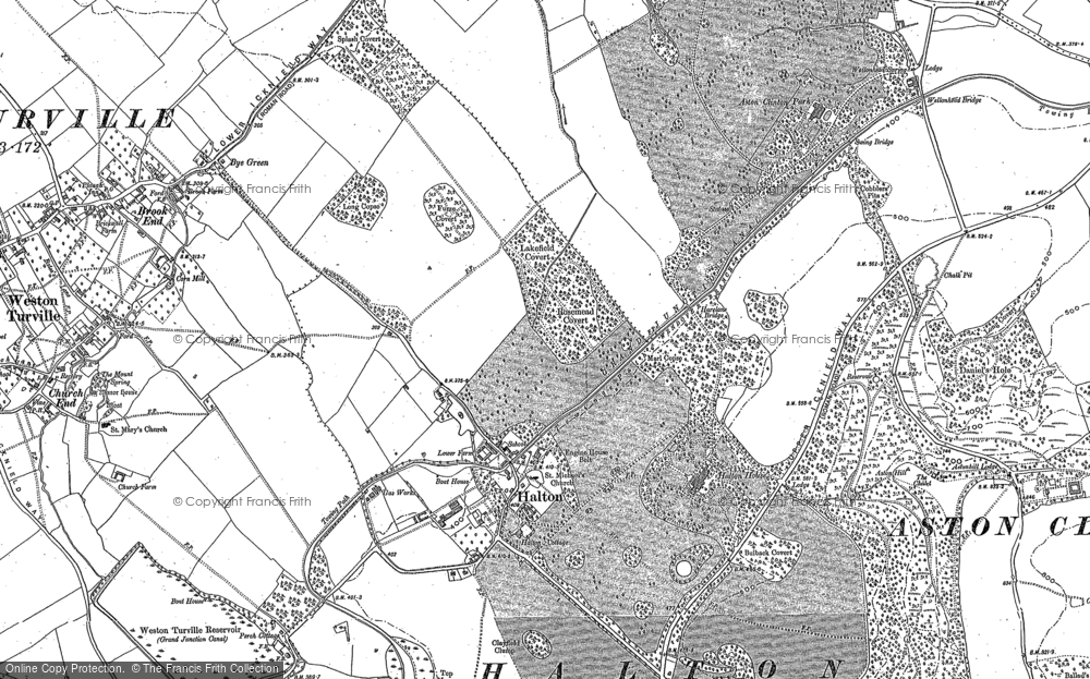 Old Map of Halton, 1898 in 1898