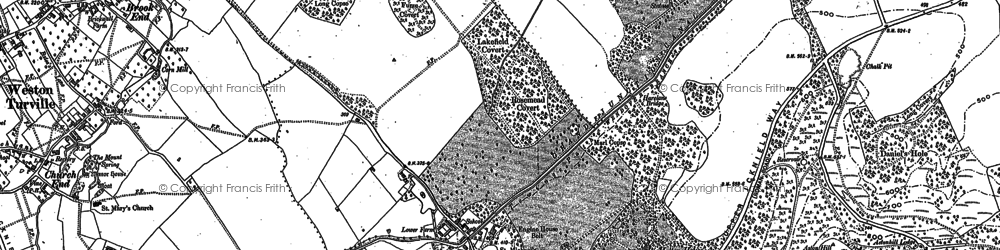 Old map of Weston Turville Resr in 1898