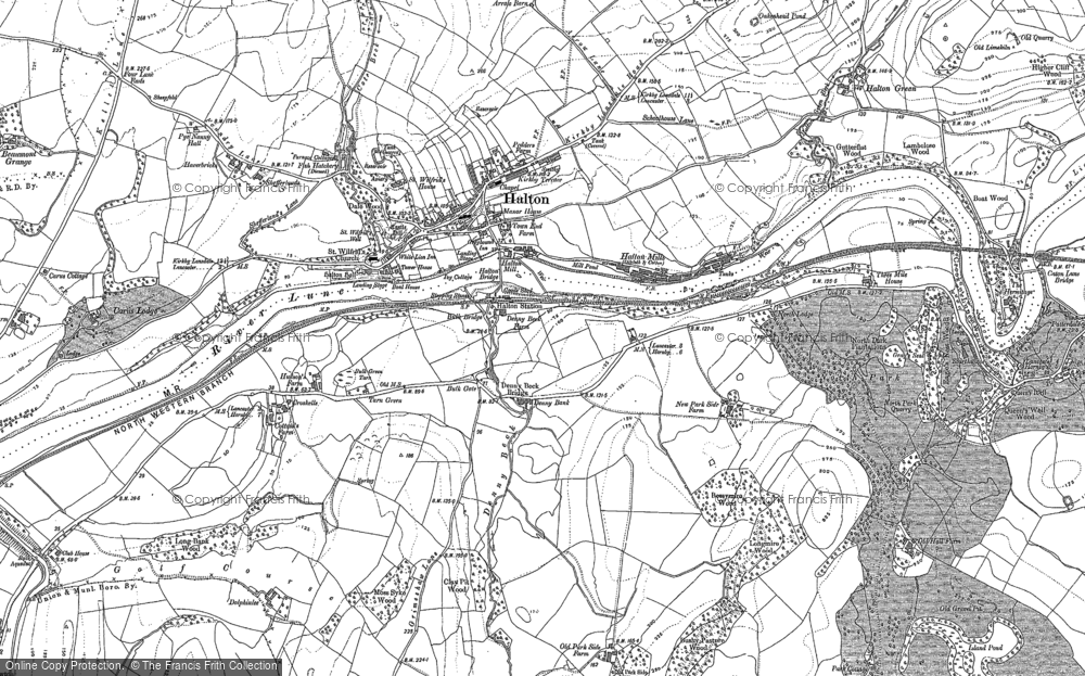 Old Map of Halton, 1910 in 1910